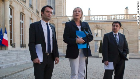 Jean-Francois Jalkh, right, has stepped down from his role in the party.