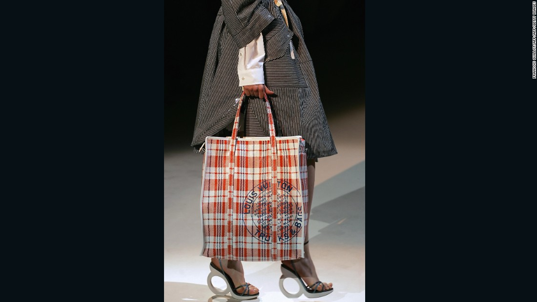 Louis Vuitton's Spring-Summer 2004 collection included this checkered nylon shopping bag.