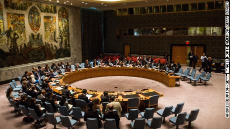 "NEW YORK, NY - AUGUST 19:  The United Nations Security Council meets on August 19, 2015 in New York City. The topic of discussion was ""The Palestinian Question,"" and Jeffrey Feltman, Under-Secretary-General for Political Affairs, addressed the council. (Photo by Andrew Burton/Getty Images)"