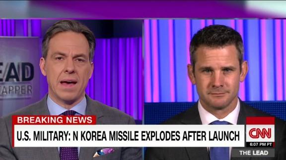 rep. kinzinger weighs in on n. korea missile test the lead _00001117.jpg