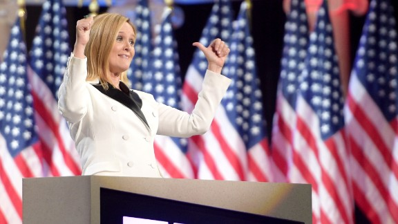 Host Samantha Bee onstage during Full Frontal With Samantha Bee