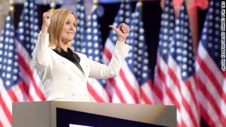 Samantha Bee onstage during 'Full Frontal With Samantha Bee's Not The White House Correspondents' Dinner'