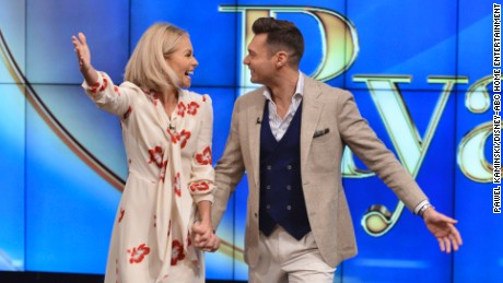 "LIVE WITH KELLY AND RYAN - Monday, May 1, 2017 -- A new era in daytime television began today when Kelly Ripa introduced the permanent co-host joining her on the top-rated, Emmy-winning ""Live"" franchise: Ryan Seacrest is the new co-host of the newly-rechristened ""Live with Kelly and Ryan.""