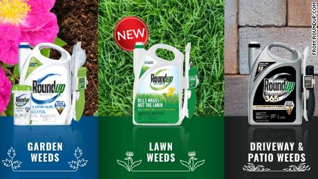 A selection of Roundup products is seen on thier website.
