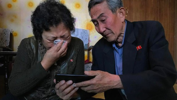 The parents in North Korea of an inadvertent defector react to a video message, shared by CNN