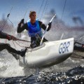 Clive mason sailing photography Ben Saxton and Nicola Groves of Great Britain