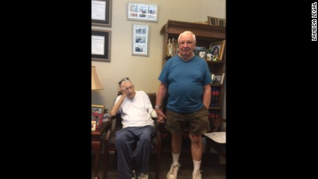 "Robert Huskey, left, who died in May 2016, seen here with husband John ""Jack"" Zawadski"