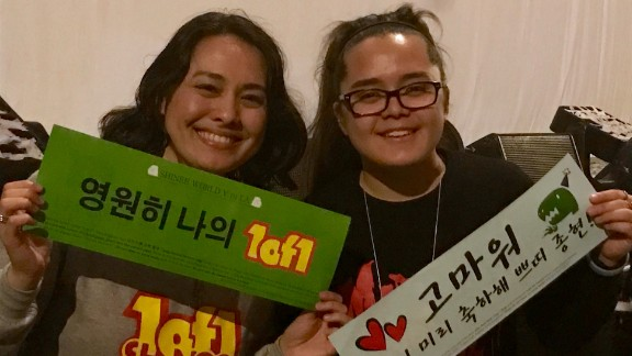 Shinee fans Ashley and Anna Matsumoto at the Los Angeles show