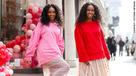 Sisters Hermon, left, and Heroda are pursuing modeling and acting careers.