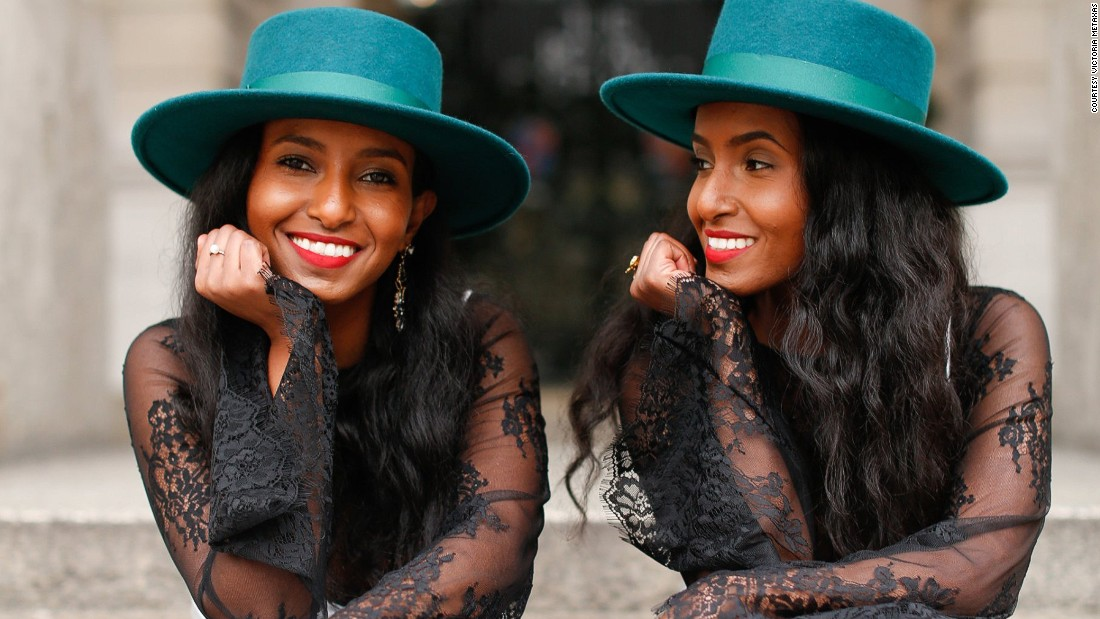 Fashion bloggers Hermon, left, and Heroda Berhane both mysteriously went deaf at the same time when they were 7. They grew up in Eritrea, but their family later moved to the UK.