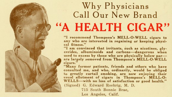 "This ad was a rare exception. Dr. G. Edward Roehrig was indeed a real doctor, practicing initially in Chicago and later in Los Angeles. ""Ironically, he died of lung cancer,"" Jackler said."