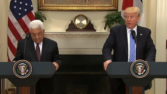 Trump Abbas presser