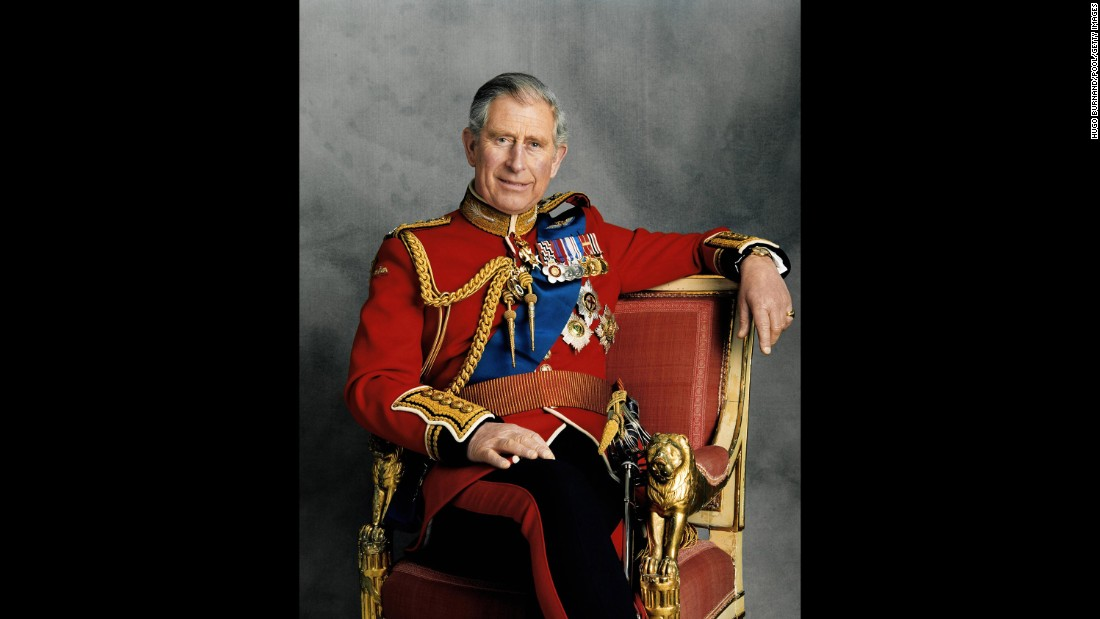 Prince Charles poses for an official portrait to mark his 60th birthday in November 2008.