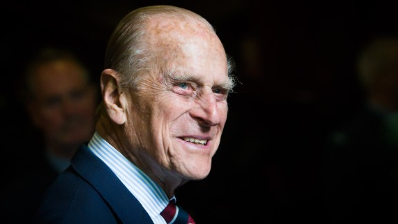 EDINBURGH, UNITED KINGDOM - JULY 04: Prince Philip, Duke of Edinburgh smiles during a visit to the headquarters of the Royal Auxiliary Air Force
