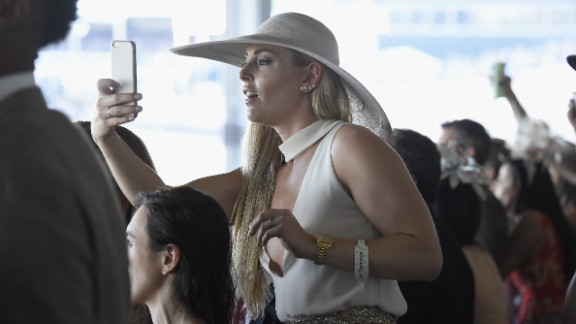 The Kentucky Derby is known to attract famous faces, such as world champion skier Lindsey Vonn.