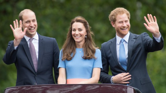 "Prince William, Duke of Cambridge, Catherine, Duchess of Cambridge and Prince Harry during ""The Patron"