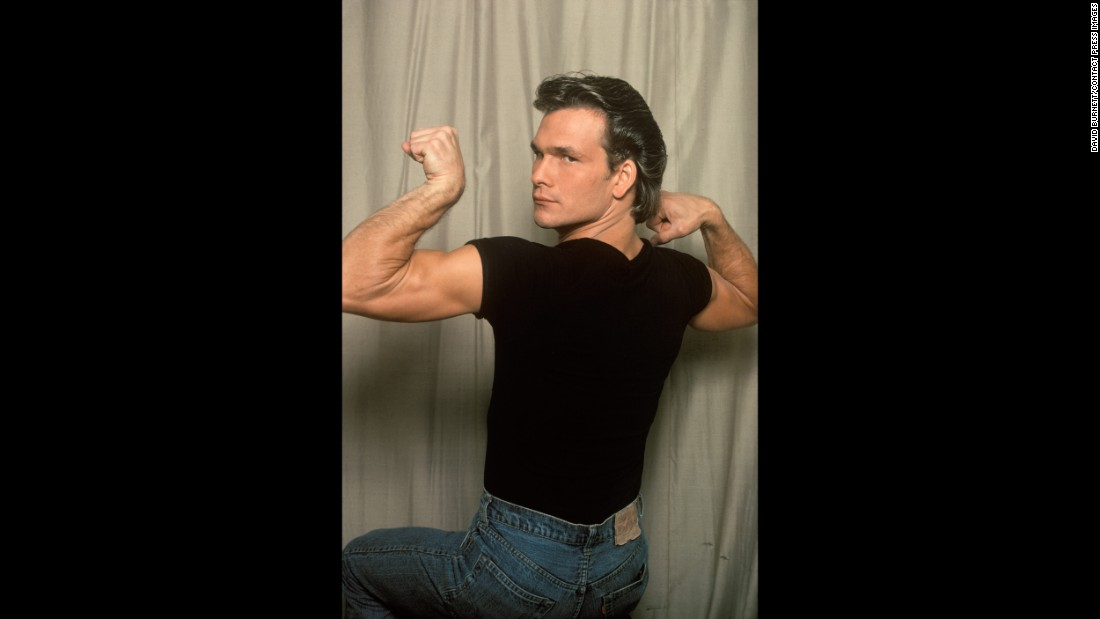 "Swayze, who played older brother Darry Curtis, flexes for the camera. Burnett said he would borrow the actors between shots, usually for 15-20 minutes at a time. ""I was pretty much a kid myself, for that matter,"" Burnett recalled. ""I was in my mid-30s. ... On those few times I got everyone together, they kind of enjoyed goofing off with me."""