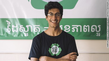 CNN Hero Samir Lakhani founded Eco-Soap Bank to give low-income Cambodians access to soap and better hygiene practices. The organization recycles used hotel soap.