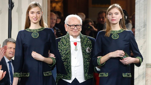 Pierre Cardin, born 1922: The Italian-born fashion designer is known for his avant-garde designs. His use of geometric shapes and patterns sparked the Space Age movement in the fashion world. He continues to work well into his 90s, turning his creative expression to cars, hotels and restaurants.