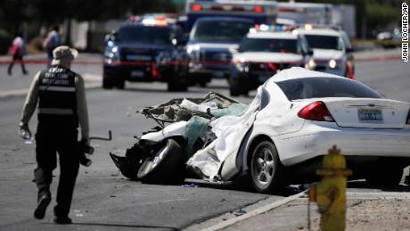 Las Vegas Car Accident >> Las Vegas School Bus Crash Leaves 16 Students Hurt Car Driver Dead