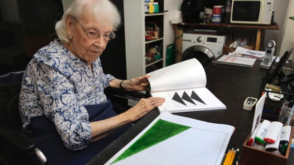 Carmen Herrera, born 1915: Cuban-American artist Herrera is an abstract minimalist painter. Now over 100 years old, Herrera says she's still bursting with ideas she wants to put on canvas.
