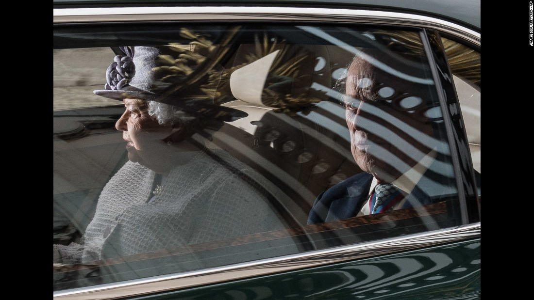 "Britain's Queen Elizabeth II and her husband, Prince Philip, leave Buckingham Palace after a meeting in London on Thursday, May 4. It was announced that Prince Philip, 95, <a href=""http://www.cnn.com/2017/05/04/europe/prince-philip-queen-elizabeth-buckingham-palace/index.html"" target=""_blank"">would be stepping down from public life</a> starting in September."
