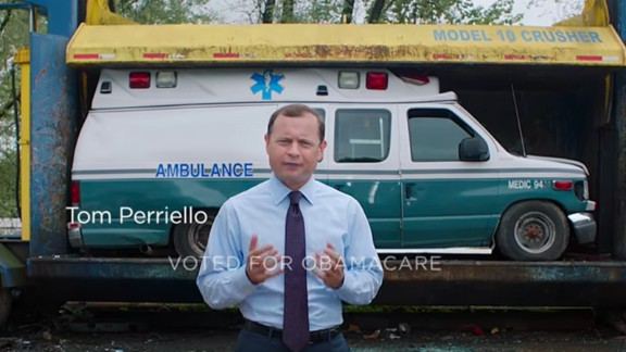 A screenshot from an ad for Tom Perriello's Virginia governor's campaign