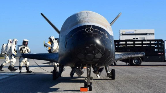 The Air Force's X-37B Orbital Test Vehicles are designed to reenter the Earth's atomsphere after flight and then safely on a runway.