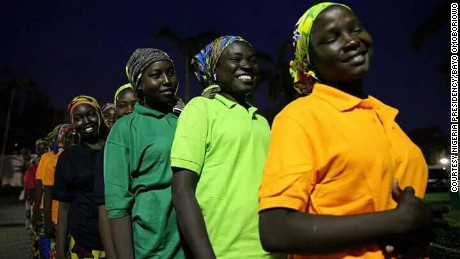 82 released Chibok schoolgirls arrive in Nigerian capital