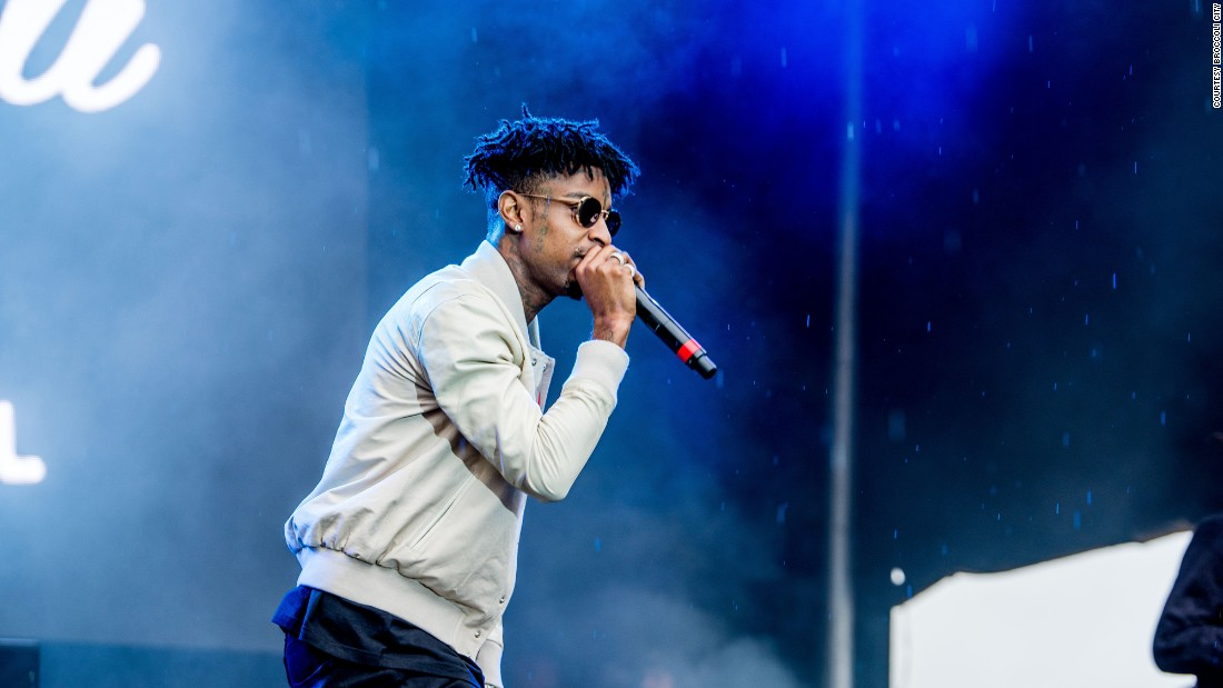 "Rapper 21 Savage performs his most popular songs, including ""X,"" on the Broccoli City main stage."