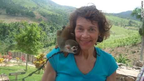Mom combined two of her other loves, travel and animals, while in the Dominican Republic in 2005.