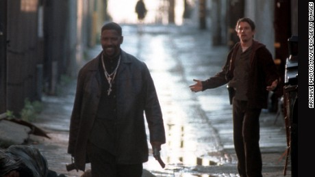 "Denzel Washington, left, won an Oscar for his role as a corrupt cop in 2001's ""Training Day."""