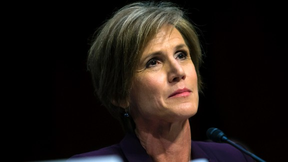 Former US Deputy Attorney General Sally Yates testifies before the Senate Judicary Committee