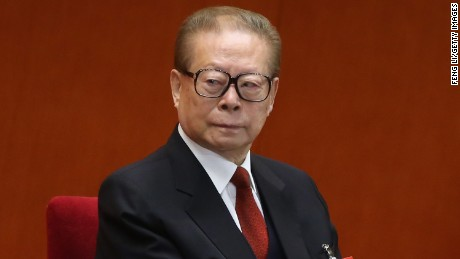 Former Chinese President Jiang Zemin attends the opening session of the 18th Communist Party Congress at the Great Hall of the People on November 8, 2012, in Beijing, China.