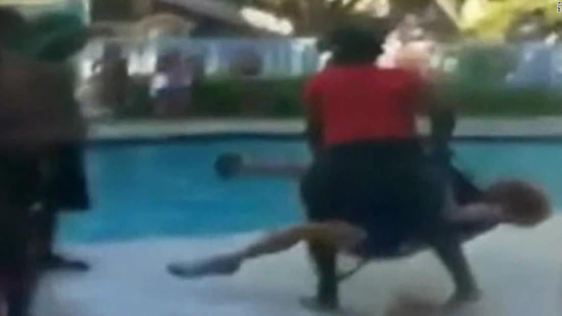 Florida Teen Who Threw Woman Into Pool Arrested   CNN