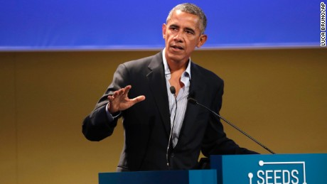 Obama defends Paris climate accord as Trump mulls ditching it
