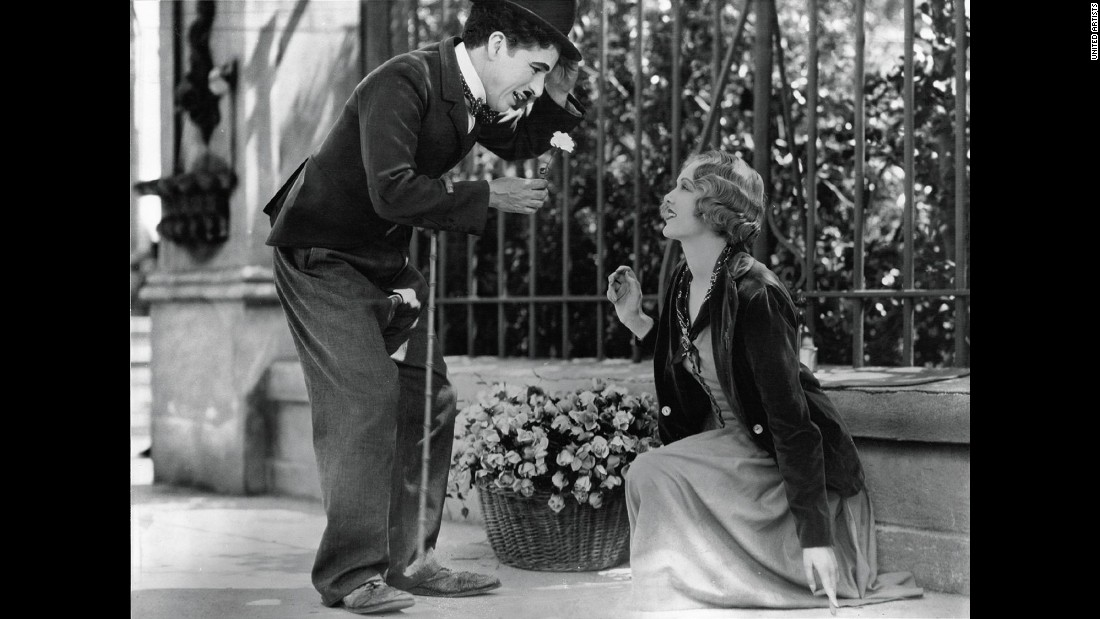 "Hollywood even delivered touching romantic moments in silent films. In the 1931 silent movie ""City Lights,"" Charlie Chaplin as the Tramp falls in love with a blind girl played by Virginia Cherrill. Critic James Agee calls the final scene the ""greatest single piece of acting ever committed to celluloid."""