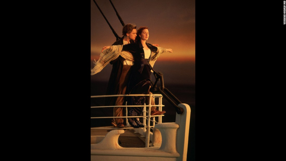 """Titanic"" (1997) is one of the biggest blockbusters of all time, epitomized by this moment between a struggling artist Jack (Leonardo DiCaprio) and aristocrat Rose (Kate Winslet)."