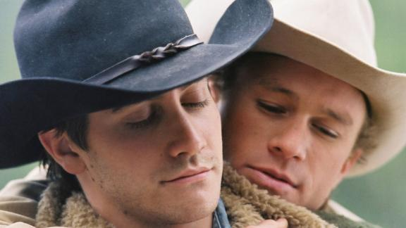 "Jake Gyllenhaal and Heath Ledger starred in ""Brokeback Mountain."""