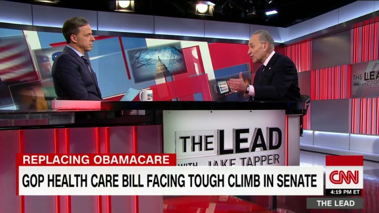 senator chuck schumer minority leader health care the lead jake tapper interview_00060514