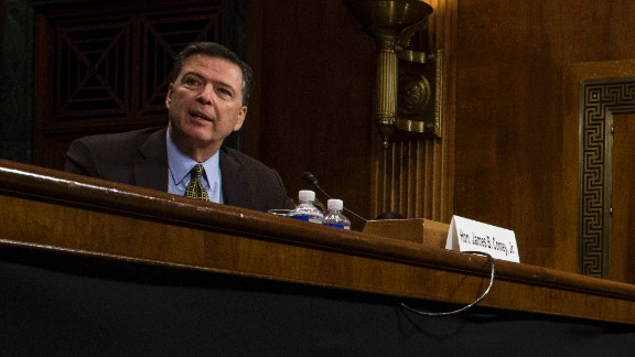 Director of the Federal Bureau of Investigation, James Comey testifies in front of the Senate Judiciary Committee during an oversight hearing on the FBI on Capitol Hill May 3, 2017 in Washington, DC.