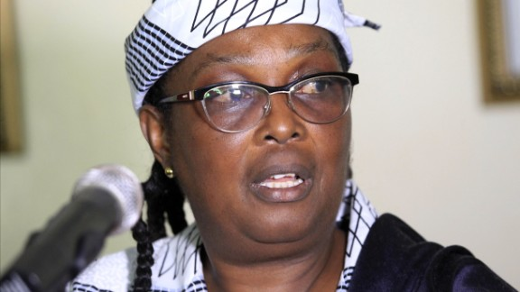 Liberia's health minister, Bernice Dahn, addresses reporters May 8, about an illness, possibly meningitis, that has killed 31 people and sickened 31 others.