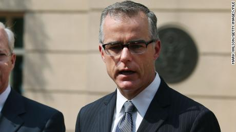 ALEXANDRIA, VA - JUNE 11: Andrew G. McCabe (R), Assistant Director of the FBI's Washington Field Office speaks while flanked by Dana J. Boente (L),U.S. Attorney for the Eastern District of Virginia, after a hearing in federal court June 11, 2015 in Alexandria, Virginia. Officials announced that earlier today 17-year-old Virginia high school student Ali Shukri Amin pleaded guilty to helping a classmate travel to Syria in hopes of joining ISIS.  (Photo by Mark Wilson/Getty Images)