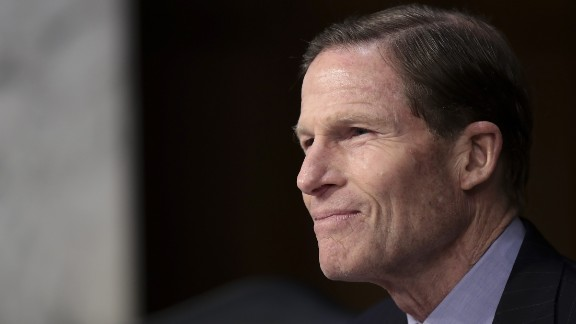 WASHINGTON, DC - MARCH 21:  Sen. Richard Blumenthal (D-CT) questions Judge Neil Gorsuch during the second day of his Supreme Court confirmation hearing before the Senate Judiciary Committee in the Hart Senate Office Building on Capitol Hill, March 21, 2017 in Washington. Gorsuch was nominated by President Donald Trump to fill the vacancy left on the court by the February 2016 death of Associate Justice Antonin Scalia. (Photo by Drew Angerer/Getty Images)