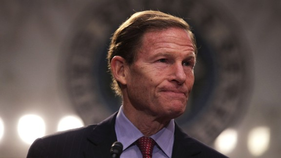 """WASHINGTON, DC - APRIL 06:  U.S. Sen. Richard Blumenthal (D-CT) participates in an anti-Gorsuch rally April 6, 2017 on Capitol Hill in Washington, DC. Senate Democrats joined activists to call on the Senate not to use the """"nuclear option"""" to pave the way to confirm President Donald Trumps Supreme Court nominee Neil Gorsuch.  (Photo by Alex Wong/Getty Images)"""