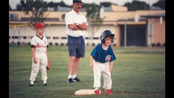Ryan at age 4 in his first Little League Baseball game.