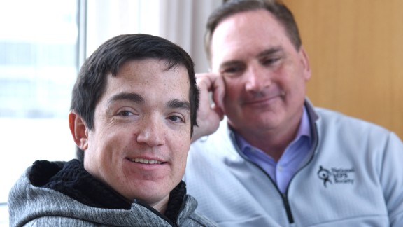 Ryan and his father return to UT Southwestern Medical Center for Ryan's quarterly spinal injections, which keep his brain functioning properly.