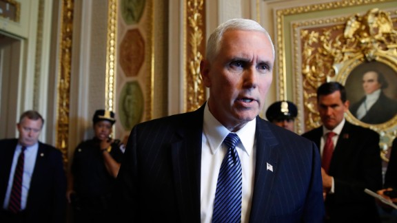 "Vice President Mike Pence talks to reporters about the firing of FBI Director James Comey by President Donald Trump on Capitol Hill in Washington, Wednesday, May 10, 2017.    Pence is defending the firing of FBI Director Comey, saying the ""president made the right decision at the right time."" He said Comey's firing was not related to the investigation into possible contacts between the Trump presidential campaign and Russia. (AP Photo/Jacquelyn Martin)"
