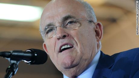 Former New York City mayor Rudy Giuliani speaks during  a campaign rally for Republican presidential nominee Donald Trump at Southeastern Livestock Pavillion on October 12, 2016 in Ocala, Florida.