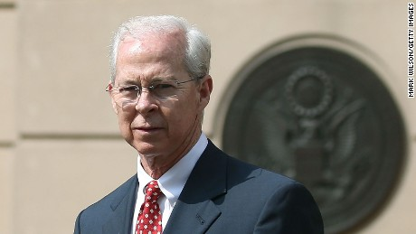 Dana J. Boente (R), U.S. Attorney for the Eastern District of Virginia, and Andrew G. McCabe (L), Assistant Director in Charge of the FBI's Washington Field Office, after a hearing in federal court June 11, 2015 in Alexandria, Virginia. Officials announced that earlier today 17-year-old Virginia high school student Ali Shukri Amin pleaded guilty to helping a classmate travel to Syria in hopes of joining ISIS.